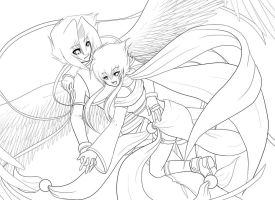 Fly with Me - Lines by Dea-89