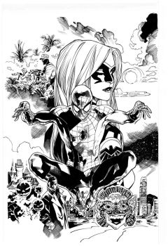 Spidey Cover By Immonem inks by Curiel by lobocomics