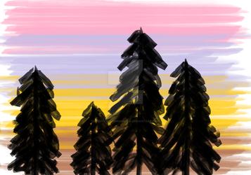 Sun/Set rise by ladyphantomofmusic