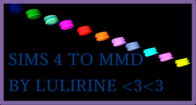 sims 4 to mmd Accessories by LULIRINE by LULIRINE