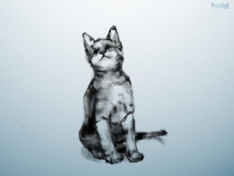 Cat Painting 20 of 99 by FuzzyTint