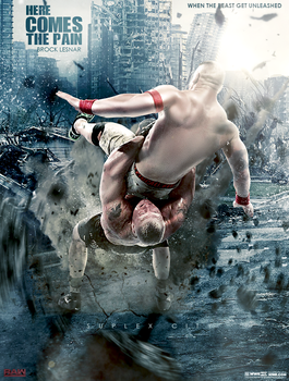 WWE BROCK LESNAR Suplex City Poster 2017 by workoutf