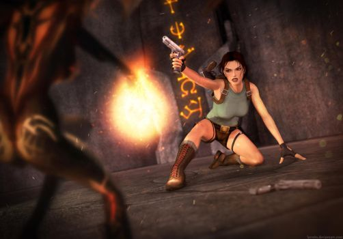 Tomb Raider 1 - Last fight by Larreks