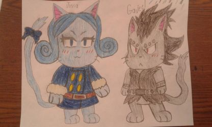 Juvia and Gajeel as exceeds by MEGARAINBOWDASH2000
