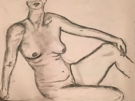 Nude Female Sitting Up by Nathan-Brice-Art