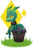 Potted Dragon by Drawnicula