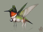 Auction: Ruby-Throated Birdling by nybird