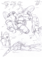 Action Practice Sketches by Fuwa2-Kyara