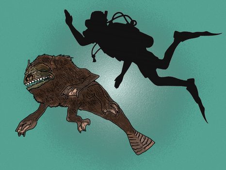 Hydrosimius ! The diving monkey ! by Brobar