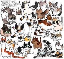 Kitty adoptables | OPEN \ Cheap by Cand3ycorn