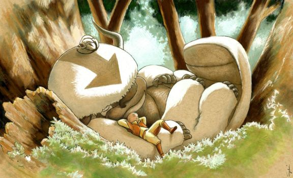 Appa/Totoro (finished) by sydniart