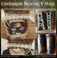 Centurion Mask and Bracers by Angelic-Artisan