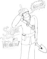 Soldier is All-American by CyberneticCupcake