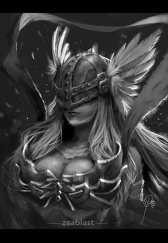 Angewomon fan art by Zeablast