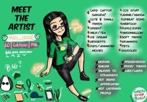 Meet the artist:GreenVampBun by Mesaku18