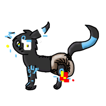 Sumbra the Diapered and Glitchy Umbreon by LuxrayBlast