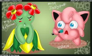 +POKEMON+ Jigglypuff+Bellossom by tigerqueen