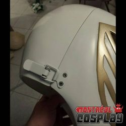 White MMPR Cosplay Helmet by MontrealCosplay