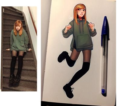 Outfit of the Day Sketch - December by Cyarin