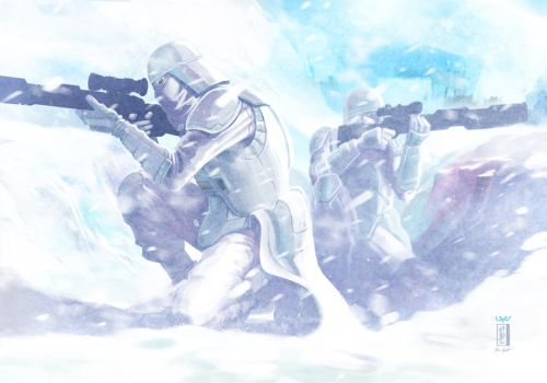 -- Snowtroopers -- by yvanquinet