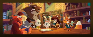 True Tail: A Trip to the Library by SkynamicStudios