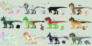 Adoptables [CLOSED] by Fluwari