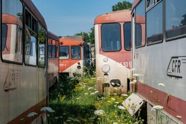 Abandoned CFR Class 79 Railcars, Timisoara. by FutureWGworker