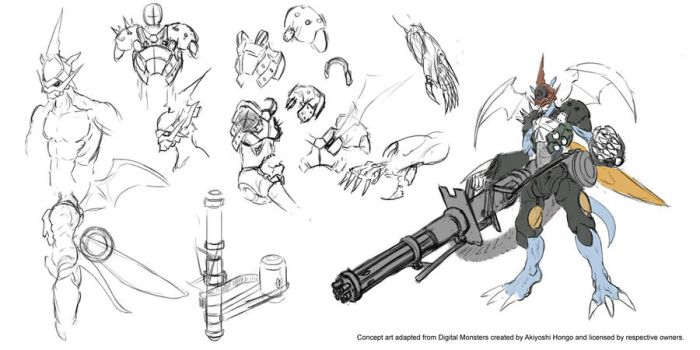 Digimon World Alpha - StrikePaildramon draft by Vinsuality