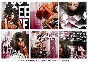 Priyanka Chopra Icons by KhanDR
