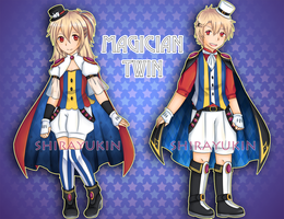 [CLOSED] Adoptable: Magician Twin by shirayukin