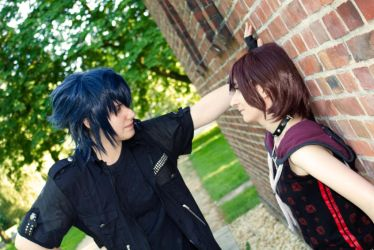 We need to talk... Noctis and Iris FF (XV) by xXDarkSanctuaryXx