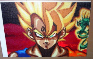 Goku and Vegeta (Mini-Beads) by FTWBAmanojaku