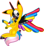 Contest Entry For Flaming Rainbow by lunarvoidangel3018