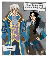 Vex And Percy by naomimakesart
