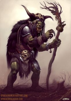 Orc Shaman by SpineBender