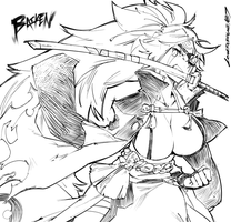 Baiken Sketch by lonerurouni187