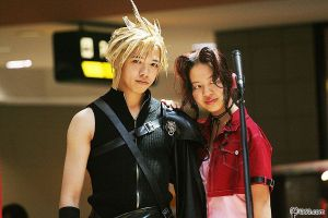 Cloud and Aerith by CelestialxAurora