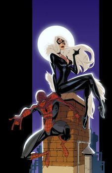 Spider-man and Black Cat by KharyRandolph