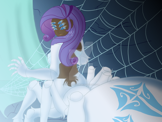 Rarity The Arachne Redraw by CrimsonGlow