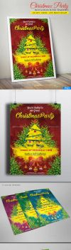 Christmas Party Invitation Flyer/Poster by sktdesigns