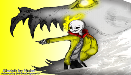 CM: Thunder!Sans Wallpaper version by Evil-Black-Sparx-77