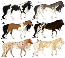 Semi-Natural Equine Point Adopts (OPEN 1/6 left) by Drasayer