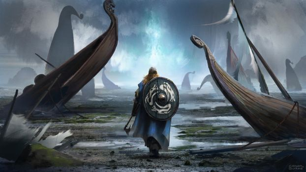 Viking cataclysm by conorburkeart