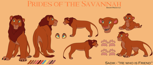 [Lion OC] Sadik's Concept Art 1.0 by SnowyReign