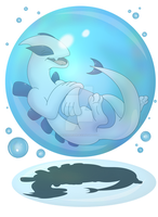 Comm: Lugia's luxurious bubble therapy! by Kinipharian