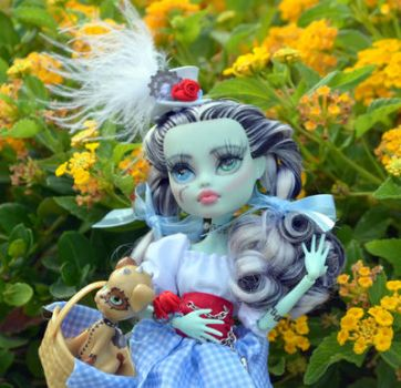 Steampunk Dorothy OOAK Frankie Stein by DiamanteMorte