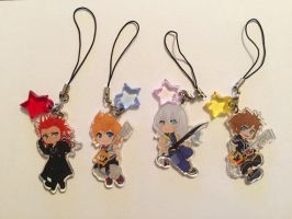 Kingdom Hearts Charms! by MidnightZone