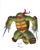 Nicktoon TMNT Rapheal by scribblesartist