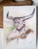 The Iron Bull - Watercolor Painting by Anhyra