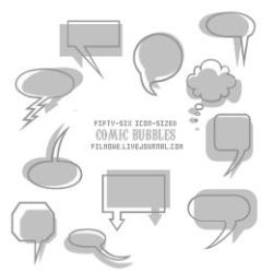 Comic bubble brushes no. 1 by filmowe